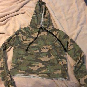 Girls crop top hoodie